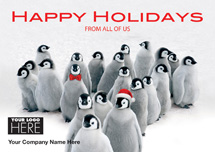 Penguin Parade Holiday Logo Cards